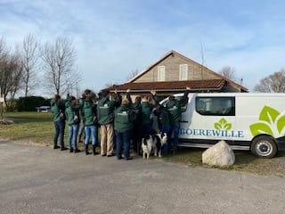 De deelnemers zorgboerderij Boerewille